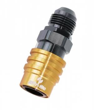 Jiffy-tite - Jiffy-tite 3000 Series Quick-Connect -8 AN Male Socket Fitting - Valved - Fluorocarbon Seal