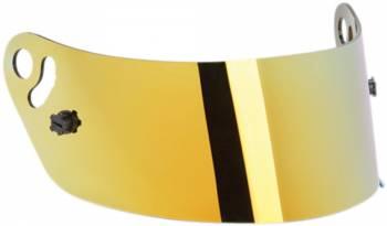 Impact - Impact Yellow Chrome Helmet Shield - Fits Snell SA2010 Champ, Nitro,Drag Champ, Super Cyclone