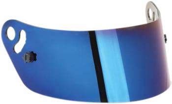 Impact - Impact Blue Chrome Helmet Shield - Fits Snell SA2010 Champ, Nitro,Drag Champ, Super Cyclone