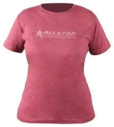 Allstar Performance - Allstar Performance Ladies Vintage T-Shirt - Burgundy - Medium