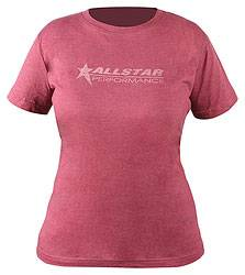 Allstar Performance - Allstar Performance Ladies Vintage T-Shirt - Burgundy - X-Large