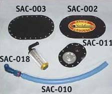Saldana Racing Products - Pyrotect PyroSprint #6 Or #8 Bulkhead Fitting - Compression Washer - Nylon Washer And Nut For MB 114-Bl