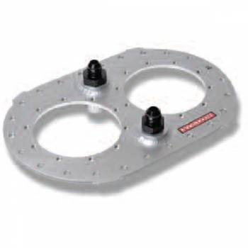 "Pyrotect Fuel Cells - Pyrotect 6"" X 10"" Fill Plate - (2) 5"" Bolt Circle - (1) Pick-Up Fitting - (1) -8 AN Vent Check Valve"