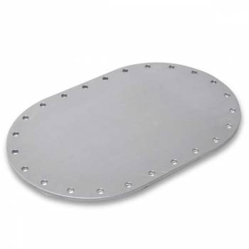 "Pyrotect Fuel Cells - Pyrotect 6"" X 10"" Oval 3/16"" Blank Aluminum Fill Plate"