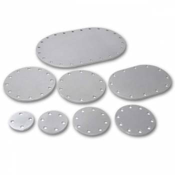 "Pyrotect Fuel Cells - Pyrotect 4"" X 6"" Oval 3/16"" Blank Aluminum Fill Plate"
