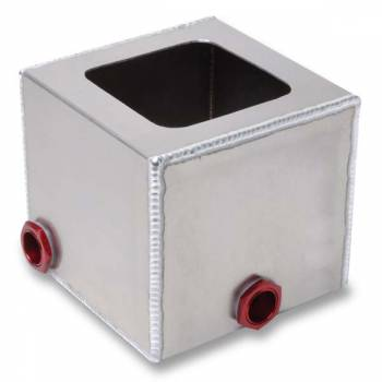 "Pyrotect Fuel Cells - Pyrotect 8"" X 8"" X 4"" Corner Collector Tank w/ Two Ball Check Valves"
