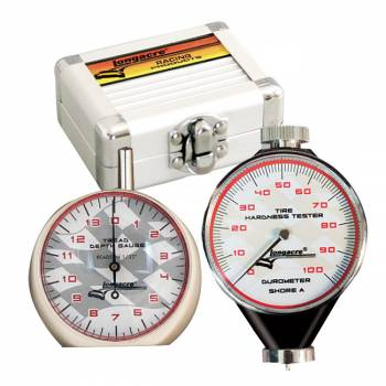 Longacre Racing Products - Longacre Durometer & Tread Depth Gauge w/ Silver Case