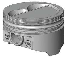 "KB Performance Pistons - KB Pistons Performance Hypereutectic D-Cup Piston Set - SB Chevy 283-400 - Bore Size: 4.040"", Stroke: 3.750"", Rod Length: 5.700"""