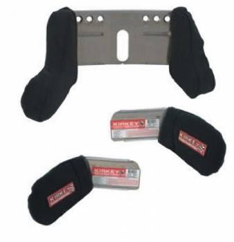 Kirkey Racing Fabrication - Kirkey Head & Shoulder Restraint Kit - Short Left Side - Fits Kirkey Seats - Black Cloth Cover