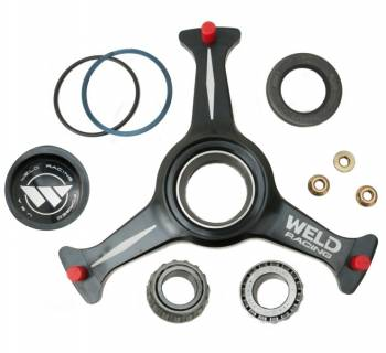 "Weld Racing - Weld Sprint Car Ultra Hub - 3 Spoke - Black - 15"" - Left w/ Rotor Mount"