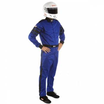 RaceQuip - RaceQuip 110 Series Pyrovatex Racing Suit - Blue - Med/Tall
