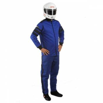 RaceQuip - RaceQuip 120 Series Pyrovatex Racing Jacket (Only) - Blue - Med/Tall