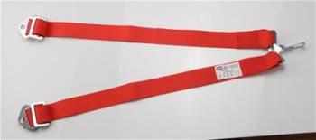 RaceQuip - RaceQuip 6-Point Conversion Anti-Submarine Belt - Red