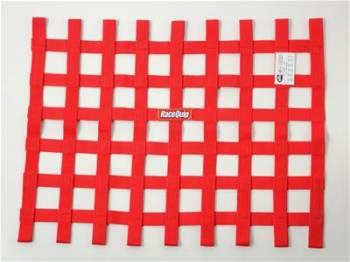 """RaceQuip - RaceQuip 18"""" x 24"""" Ribbon Window Net - Red"""