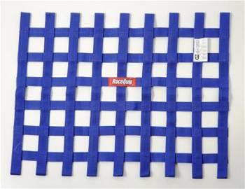"""RaceQuip - RaceQuip 18"""" x 24"""" Ribbon Window Net - Blue"""