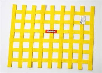 """RaceQuip - RaceQuip 18"""" x 24"""" Ribbon Window Net - Yellow"""