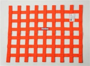 """RaceQuip - RaceQuip 18"""" x 24"""" Ribbon Window Net - Orange"""