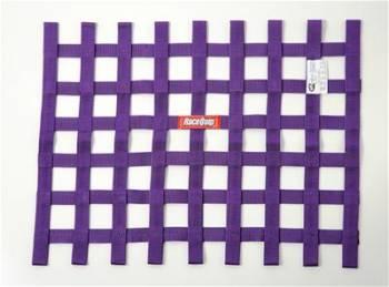 """RaceQuip - RaceQuip 18"""" x 24"""" Ribbon Window Net - Purple"""