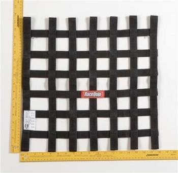 RaceQuip - RaceQuip Ribbon Net 18x18 SFI Black