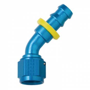 Fragola Performance Systems - Fragola Series 8000 Push-Lite Race Hose End -4 AN - 45°