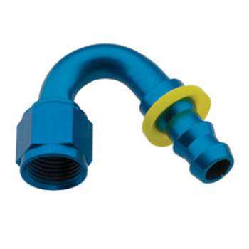 Fragola Performance Systems - Fragola Series 8000 Push-Lite Race Hose End -6 AN - 150°