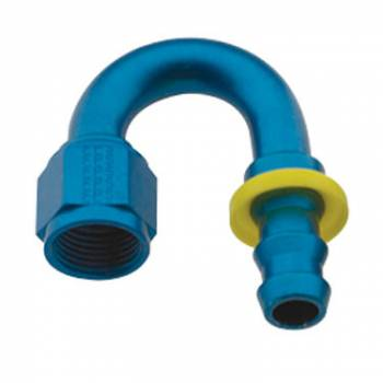 Fragola Performance Systems - Fragola Series 8000 Push-Lite Race Hose End -6 AN - 180°