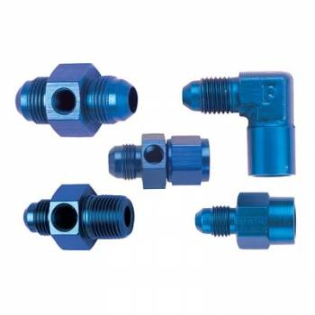 Fragola Performance Systems - Fragola Gauge Adapter -4 AN Male - 1/8 NPT Port - 90°