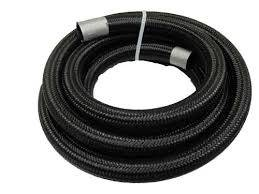 Fragola Performance Systems - Fragola #8 Premium Black Nylon Race Hose - 3 Ft.
