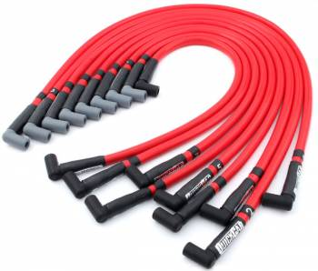 QuickCar Racing Products - QuickCar Sleeved Race Wires w/o Coil Wire - Red - Small Block Chevy