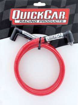 """QuickCar Racing Products - QuickCar Sleeved Race Wire - Red Coil Wire 24"""" HEI/HEI"""