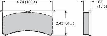 Wilwood Engineering - Wilwood Brake Pad Set - PolyMatrix H - Billet / Forged Narrow Superlite (7416)