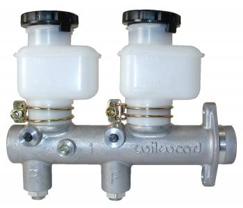 "Wilwood Engineering - Wilwood Tandem Remote Master Cylinder w/Tandem Reservoir - 1.00"" Bore"