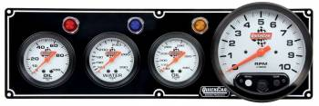 "QuickCar Racing Products - QuickCar 3-1 Gauge Panel w/ 5"" Tach - OP/WT/OT"