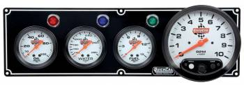 "QuickCar Racing Products - QuickCar 3-1 Gauge Panel w/ 5"" Tach - OP/WT/FP"