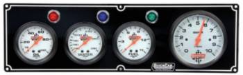 "QuickCar Racing Products - QuickCar 3-1 Gauge Panel w/ 3-3/8"" Tach - OP/WT/FP"
