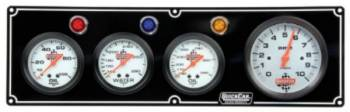 "QuickCar Racing Products - QuickCar 3-1 Gauge Panel w/ 3-3/8"" Tach - OP/WT/OT"
