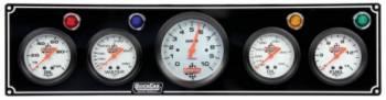 "QuickCar Racing Products - QuickCar 4-1 Gauge Panel w/ 3-3/8"" Tach - OP/WT/OT/FP"