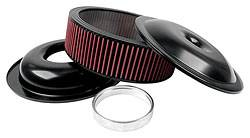 "Allstar Performance - Allstar Performance 14"" Air Cleaner Kit With Washable Element - 4"" - Black"