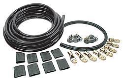Allstar Performance - Allstar Performance Battery Cable Kit - 2 Gauge - 1 Battery - Black