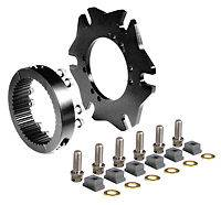 "Brake Components - Rotor Mounts - Wilwood Engineering - Wilwood Splined Hub Kit Sprint Axle Clamp - 8 x 7.0"" Bolt Circle - 3.37"" x 2.28"" Rotor Mount"