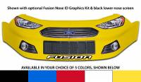 Stock Car Noses - Ford Fusion Noses - Five Star Race Car Bodies - Five Star Ford Fusion Nose - Yellow - Left (Only)