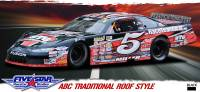 Stock Car Body Packages - Ford Fusion Bodies - Five Star Race Car Bodies - Five Star Ford Fusion ABC Complete Body Package - White