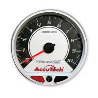 "Memory Tachometers - In-Dash Memory Tachs - Longacre Racing Products - Longacre AccuTech™ SMi™ 4.5"" Silver Face Memory Tachometer - 10K"