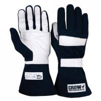 Kids Race Gear - Kids Racing Gloves - Crow Enterprizes - Crow Standard Junior Nomex® Driving Glove - Black