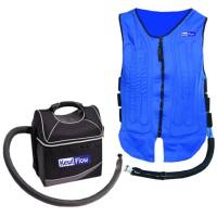 Driver Cooling - Cooling Vests - TechNiche International - TechNiche International KEWLFLOW™ Circulatory Cooling Vest w/ Static Cooler, Includes 12V Adapter - Blue