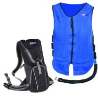 TechNiche International - TechNiche International KEWLFLOW™ Circulatory Cooling Vest w/ Portable Backpack, Includes Battery Pack - Blue