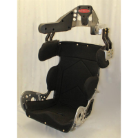 "Sprint Car & Open Wheel Seats - Kirkey 79 Series Sprint Car Containment Seats - Kirkey Racing Fabrication - Kirkey 79 Series Deluxe Sprint Car Full Containment Seat Cover (Only) - Black Tweed - 17"" - Fits #79170"