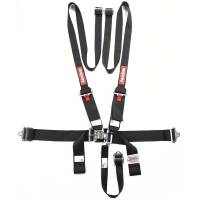 Safety Equipment - Seat Belts & Harnesses - RaceQuip - RaceQuip 5-Point HNR / HANS Latch & Link Harness Set - Red
