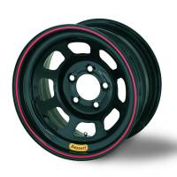 "Bassett Wheels - Bassett D-Hole Lightweight Wheels - Bassett Racing Wheels - Bassett D-Hole Lightweight Wheel - 15"" x 7"" - 4 x 100mm - Black - 4"" Back Spacing - 16 lbs."