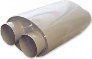 Mufflers and Components - Howe Mufflers - Howe Double Barrel Mufflers